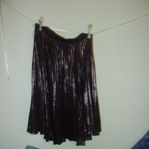 Shimmery Black Skirt